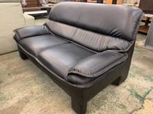 [9成新] 簡單好用合成皮雙人沙發雙人沙發無破損有使用痕跡