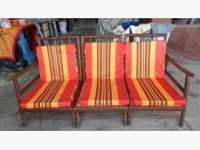 [9成新] 古早味老件檜木實木木沙發組木製沙發無破損有使用痕跡