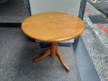 [8成新] 隆發家具行 ▪ 實木圓桌餐桌有輕微破損