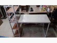[全新] 全新淺色實木貼皮鐵座書桌架書桌/椅全新