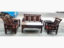 [8成新] 花梨木組椅1+2+3+大小茶几木製沙發有輕微破損