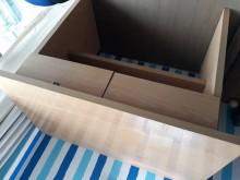 [9成新] 雙抽書桌書桌/椅無破損有使用痕跡