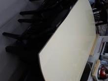 [9成新] 大理石餐桌椅,可打開成圓桌餐桌無破損有使用痕跡