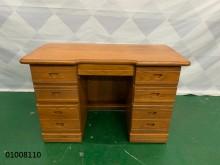 [9成新] 01008110 原木色書桌書桌/椅無破損有使用痕跡