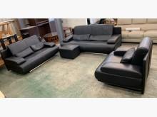 [9成新] 霸氣十足3+2+1半牛皮沙發組多件沙發組無破損有使用痕跡