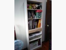 [9成新] 實用2尺白色木紋高書櫃書櫃/書架無破損有使用痕跡