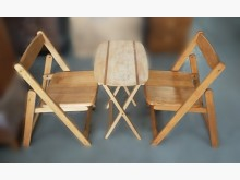 A12412木色一桌2椅*其它桌椅有明顯破損