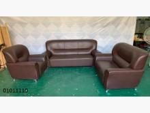 [9成新] 01011110 咖啡皮沙發組多件沙發組無破損有使用痕跡
