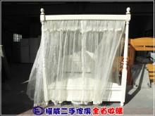 [9成新] 權威二手傢俱/鄉村白6尺公主床雙人床架無破損有使用痕跡