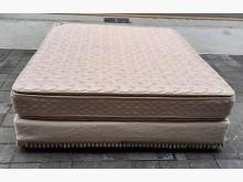 [8成新] 雙人加大7尺床組雙人床墊有輕微破損
