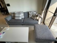 [9成新] 沙發茶几組雙人沙發無破損有使用痕跡