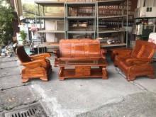 [9成新] 1+2+3+大小茶几 黃楊木椅組木製沙發無破損有使用痕跡