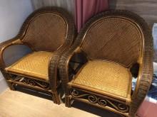 [9成新] 1+1+3+大小茶几藤椅組籐製沙發無破損有使用痕跡