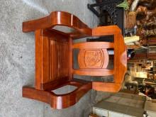 [9成新] 實木單人座木製沙發無破損有使用痕跡