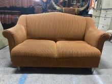[9成新] 布面條紋樣式 雙人布沙發雙人沙發無破損有使用痕跡