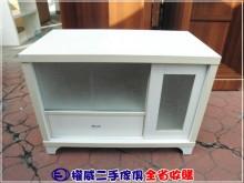 [9成新] 權威傢俱/簡約白玻璃滑門電視櫃電視櫃無破損有使用痕跡