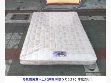 [8成新] 冬夏兩用五尺雙人床墊 彈簧床墊雙人床墊有輕微破損
