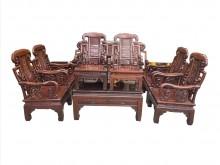[9成新] *RW12005*花梨木10件式木製沙發無破損有使用痕跡