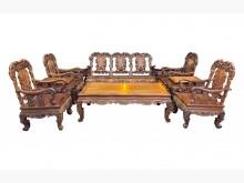 [9成新] LG12004*紫檀10件式組椅木製沙發無破損有使用痕跡