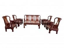 [9成新] *RW12003*花梨木10件式木製沙發無破損有使用痕跡