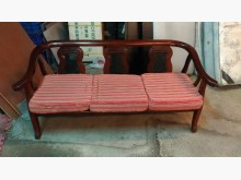 [9成新] 古典三人座太師椅木製沙發無破損有使用痕跡