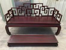 [9成新] 大慶二手家具 紅木色實木羅漢椅無破損有使用痕跡