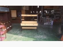 合運二手傢俱~木紋書桌(鐵腳)書桌/椅有輕微破損