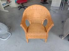 藤製單人沙發椅H03570籐製沙發無破損有使用痕跡