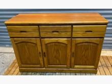 [8成新] 半實木六4尺餐櫃碗盤櫥櫃有輕微破損