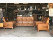[9成新] 原木沙發1+2+3人座沙發組木製沙發無破損有使用痕跡