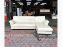 [95成新] L型米色貓抓皮沙發組L型沙發近乎全新