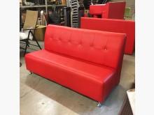 [95成新] *樣品屋*晶鑽三人座紅色皮沙發多件沙發組近乎全新