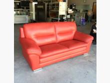 [95成新] 紅色雙人半牛皮沙發多件沙發組近乎全新