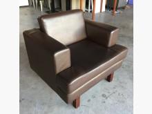 [全新] *樣品屋*高級棕色單人皮沙發單人沙發全新