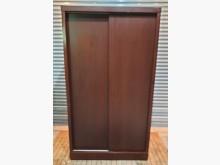 [8成新] 胡桃四尺滑門衣櫃衣櫃/衣櫥有輕微破損