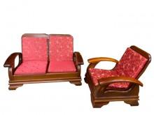[9成新] A20606*1+2木製沙發木製沙發無破損有使用痕跡