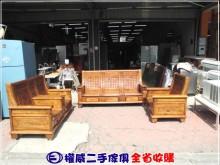 [9成新] 權威傢俱/樟木全實木沙發椅3件組木製沙發無破損有使用痕跡