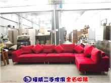 [9成新] 權威二手傢俱/紅色L形布沙發L型沙發無破損有使用痕跡