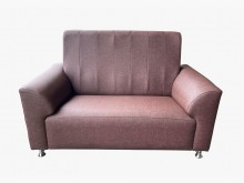 [全新] 全新巧達2人貓抓皮沙發(咖啡)雙人沙發全新