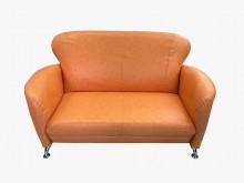 [全新] 全新小丸子橘色雙人皮沙發雙人沙發全新