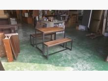 合運二手傢俱全新工業風餐桌+長凳餐桌椅組全新