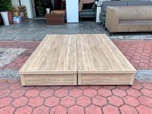 梧桐橡木色 標準雙人5尺抽屜床箱雙人床架無破損有使用痕跡