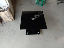 [95成新] 黑色玻璃邊几桌H03674茶几近乎全新