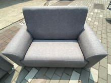 [全新] 新品巧達淺灰色3+2+1柔韌布沙多件沙發組全新