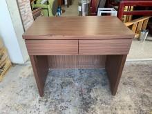 [8成新] 香榭二手家具*胡桃色3尺二抽書桌書桌/椅有輕微破損