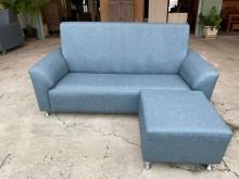 [全新] 新品藍色巧達三人座柔韌布L型沙發L型沙發全新