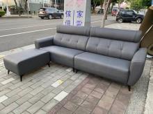 [全新] 新品深灰貓抓皮L型沙發L型沙發全新