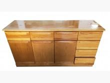[7成新及以下] A2062*木紋7抽碗盤餐櫃*碗盤櫥櫃有明顯破損