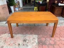 [9成新] 詩肯柚木5.5尺 優雅柚木大餐桌餐桌無破損有使用痕跡