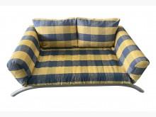 [8成新] B31702*黃藍布沙發床*沙發床有輕微破損